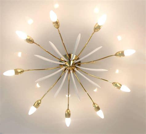 sunburst chandelier sunburst sputnik chandelier flush mount light brass