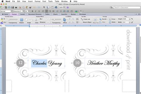 how to make place cards on microsoft word free printable place cards the budget savvy