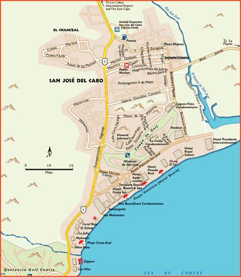 san jose del cabo hotels tourist corridor map cabo san lucas and san jose del cabo