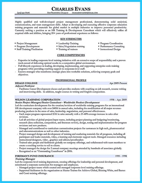 brilliant corporate trainer resume samples to get job