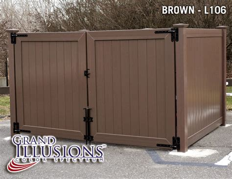 dumpster enclosure dumpster enclosures outdoor showers and more made out of