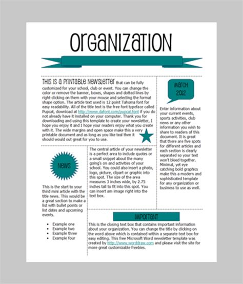 free newsletter templates for word 2007 7 newsletter word templates word excel pdf templates