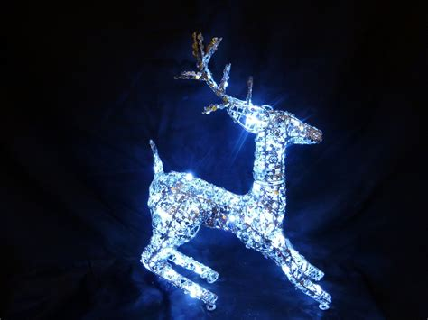 light up reindeer outdoor decoration decorations light up 50cm silver reindeer led