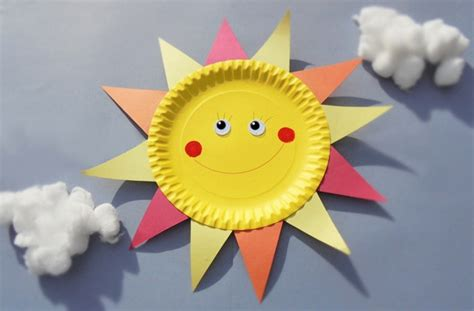 paper plate sun craft paper plate crafts how to make a sun goodtoknow
