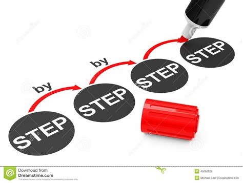 by step el proceso gradual stock de ilustraci 243 n imagen 49065826