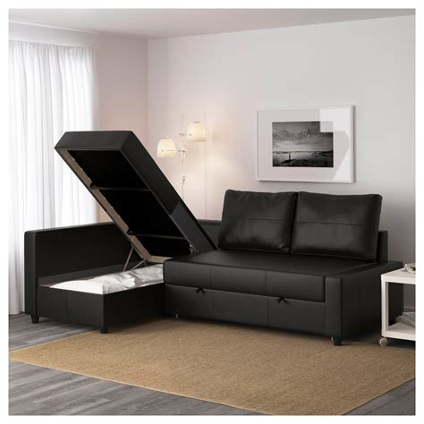 sofa bed and storage friheten corner sofa bed with storage bomstad black ikea
