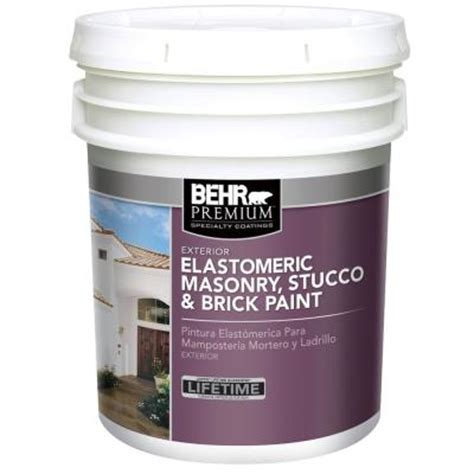 behr exterior paint colors stucco behr premium 5 gal elastomeric masonry stucco and brick