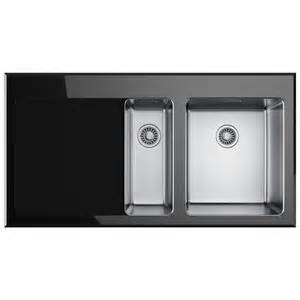 franke black kitchen sinks franke kubus kbv 651 black glass 1 5 bowl inset kitchen