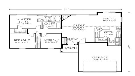 one story house plans open floor plans best one story floor plans single story open floor plans