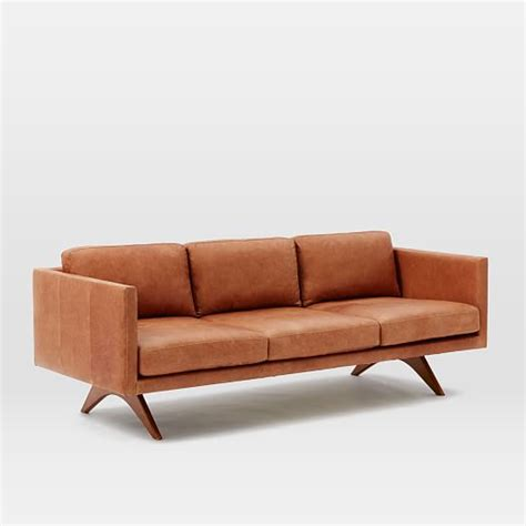west elm leather sofa leather sofa west elm