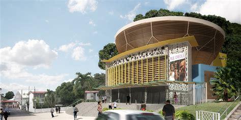 salle des f 234 tes de la ville des abymes anonym architecture et urbanisme