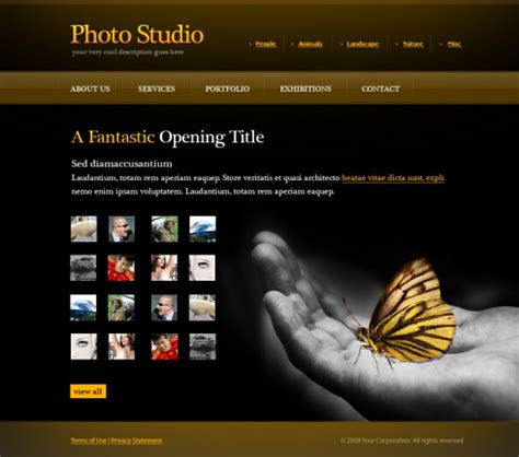 image gallery design photo gallery web template 6072 photography