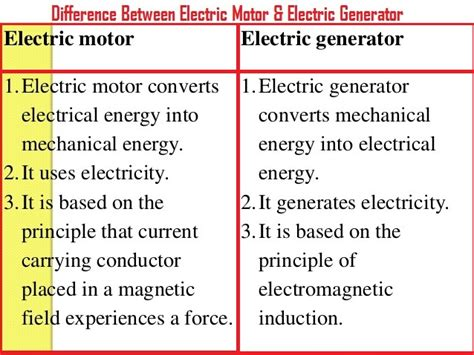 Electric Motor And Electric Generator by Difference Between Dc Motor And Ac Generator Impremedia Net
