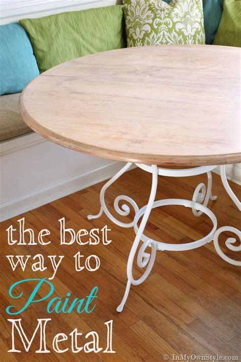 Best Way To Repaint Kitchen Cabinets kitchen update painting metal furniture in my own style