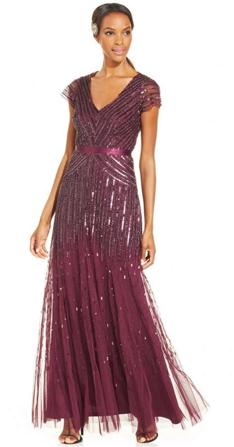 cap sleeve beaded sequined gown papell cap sleeve beaded sequined gown 2239987