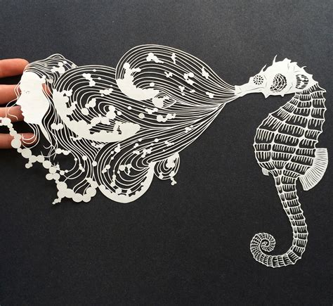 paper cutting meticulously cut paper illustrations by maude white colossal