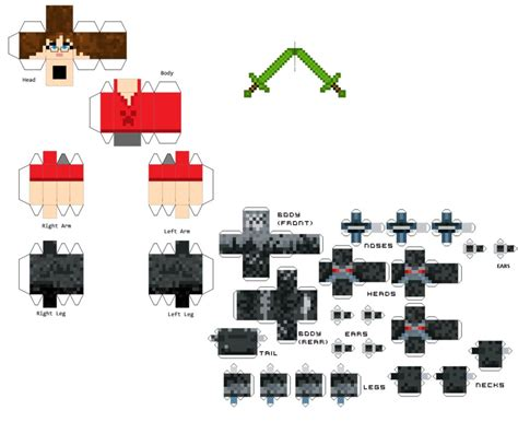 mincraft paper craft keith s papercraft skin by viredragon090 on deviantart