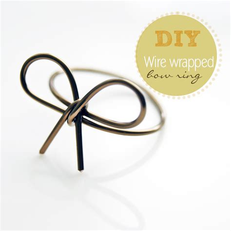how to make rings out of wire and diy wire wrapped bow ring