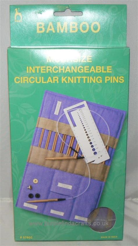 pony interchangeable circular knitting needles pony bamboo multisize interchangeable circular knitting pins