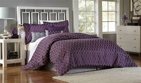 plum bedding sets essential home 7 comforter set plum geo