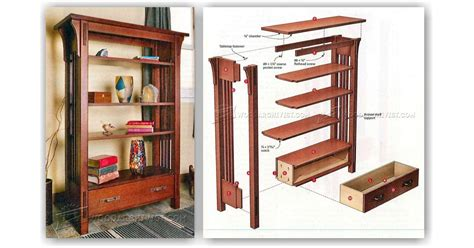 arts and crafts woodworking arts and crafts bookcase plans woodarchivist