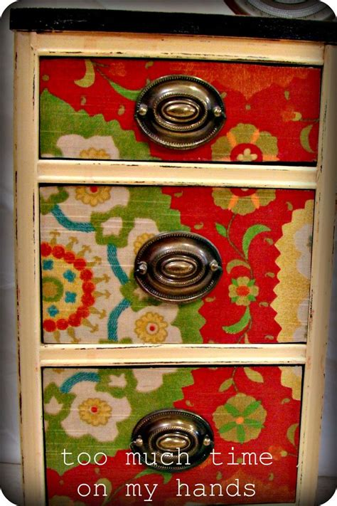 Decoupage Fabric Onto Furniture Swoon Diy