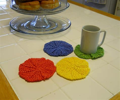 knitted coaster pattern free 7 knitted coasters for tabletop protection decor