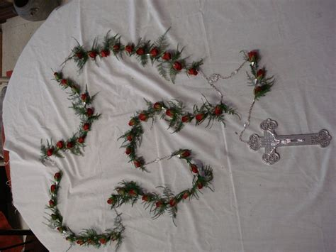 rosary from flowers casket rosary everyday funeral