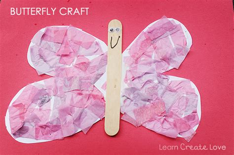 paper butterflies craft tissue paper butterfly craft