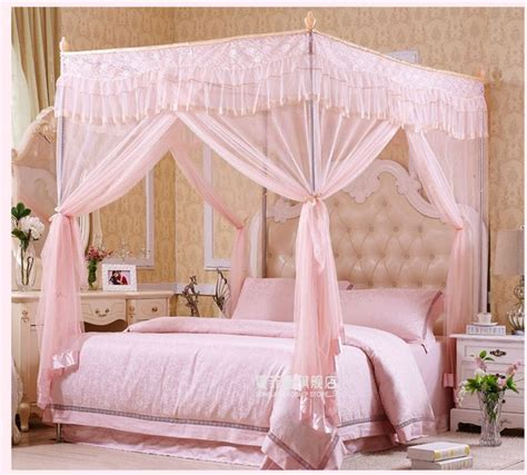 Canopy Netting by Metal Steel Frame 4 Corner Canopy Mosquito Bed Netting