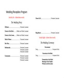 layout program free 10 wedding program templates free sle exle