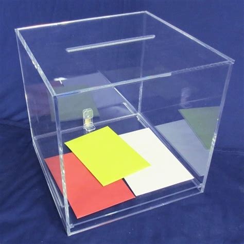 large acrylic clear acrylic large card box clear stands