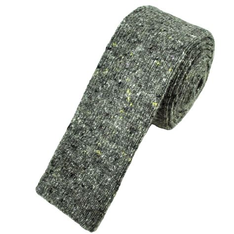 wool knit tie profuomo grey wool blend designer knitted tie