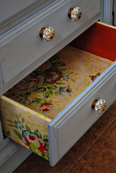 fabric decoupage dresser dishfunctional designs upcycled dressers painted