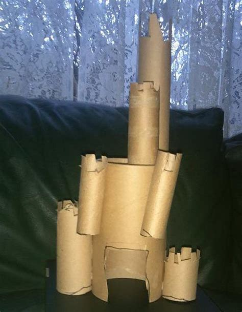toilet paper roll castle craft 10 building themed toilet paper roll crafts hative