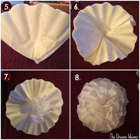 coffee filter crafts for the dreams weaver coffee filter flowers