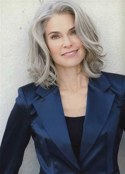 mid length grey hair 20 best hair styles for older women long hairstyles