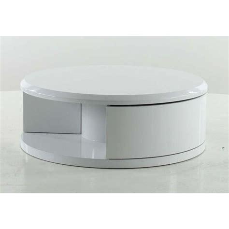 table basse ronde blanche pas cher meuble de salon contemporain