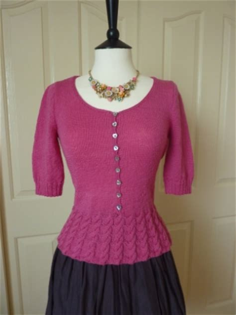 peplum knitting patterns sleeve peplum sweater free knitting pattern