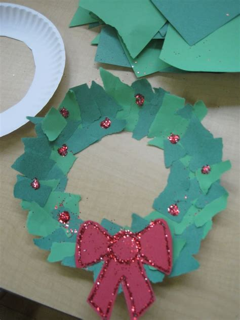 paper plate wreath crafts 11 best photos of torn paper projects torn paper owl