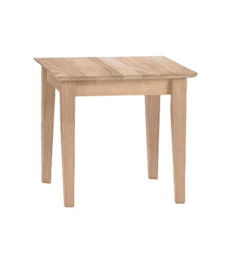 22 inch shaker end tables bare wood wood
