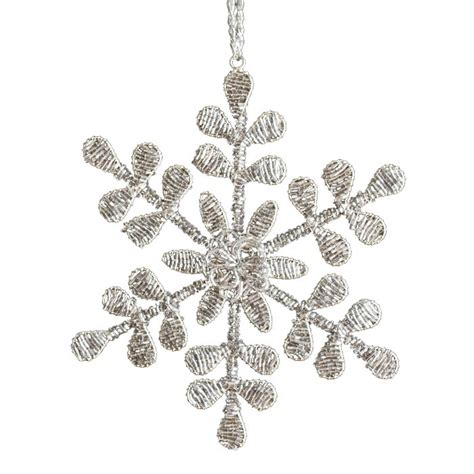 beaded snowflake ornaments beaded snowflake ornament decorations
