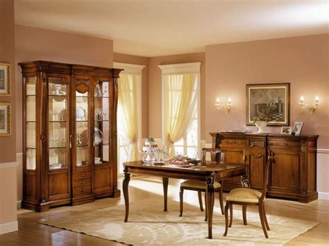 Dining Room Showcase Design Classic Display Cabinet With Two Doors For Luxury Living