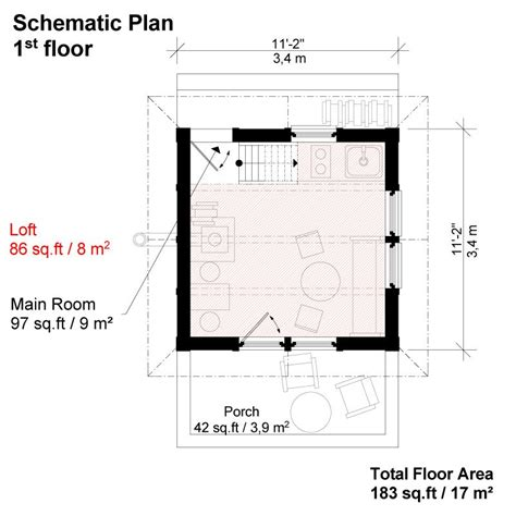 cottage floor plans with loft small cottage plans with loft and porch