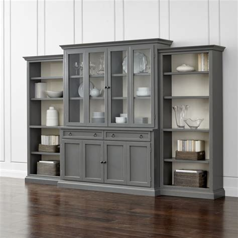 how to build a bookcase with glass doors cameo 4 grey glass door wall unit with open