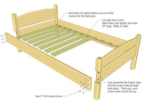 woodworking projects bed frame best 25 size bed frame ideas on