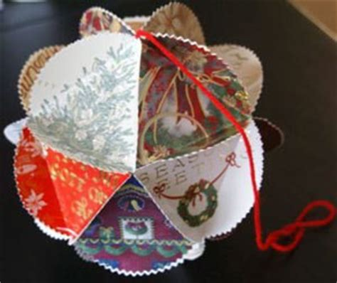 how to make card ornaments using cards thriftyfun