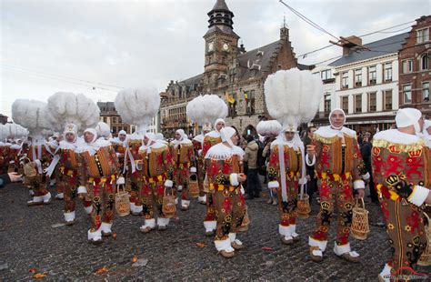 Gilles And Four Other Characters why is the carnival of binche celebrated in belgium