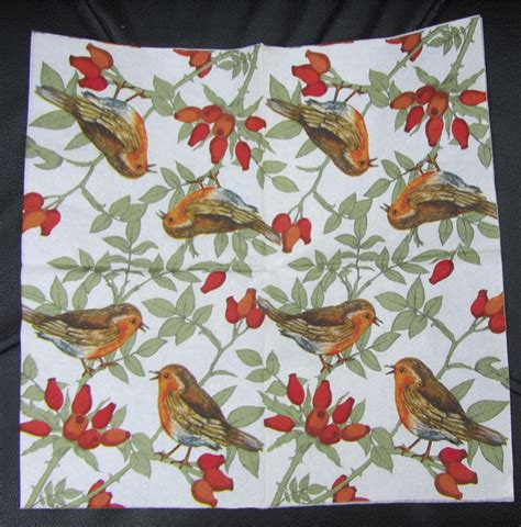 serviettes for decoupage 5 decoupage bird paper napkins serviettes robins ebay