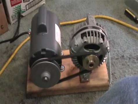 Alternator Electric Motor by Maxflow 3 Phase Alternator Mounted With 1 2 Hp Electric